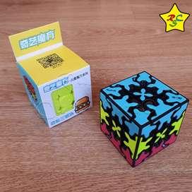 Gear 3x3 Tricolor Cubo Rubik Sandwich Qiyi Engranajes Tiled