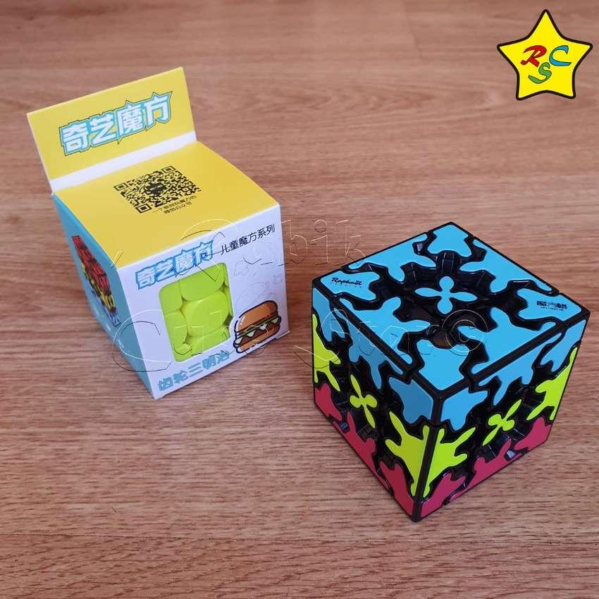 Gear 3x3 Tricolor Cubo Rubik Sandwich Qiyi Engranajes Tiled 0