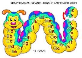 Rompecabezas gigante de gusano