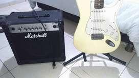Combo de Guitarra + amplificador marshall
