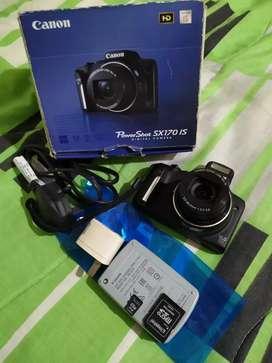 Camara Canon Original PowerShot SX170 IS 16.0 Mega Pixels