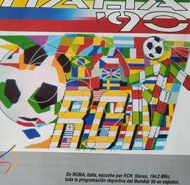 Acetato souvenir de RCN ITALIA 90