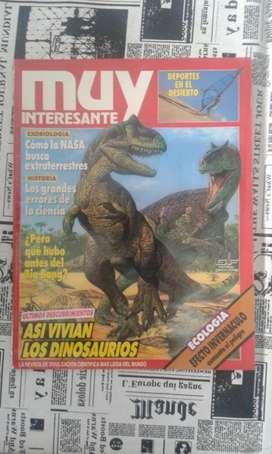 Revista Muy Interesante Año 1992 Numero 134 Así Vivían Los Dinosaurios