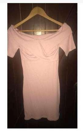Vestido rosa talla M