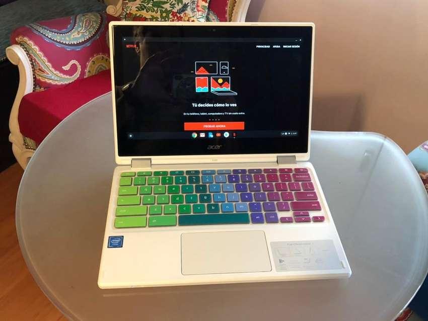 Rebajada! Chromebook Acer R11 Convertible Touch! Con Play Store de Fabrica! Compu o Tablet, la usas como querés ! 0
