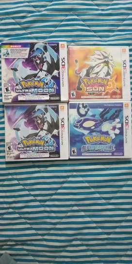 Colección de Pokémon 3ds y 2ds 3 juegos
