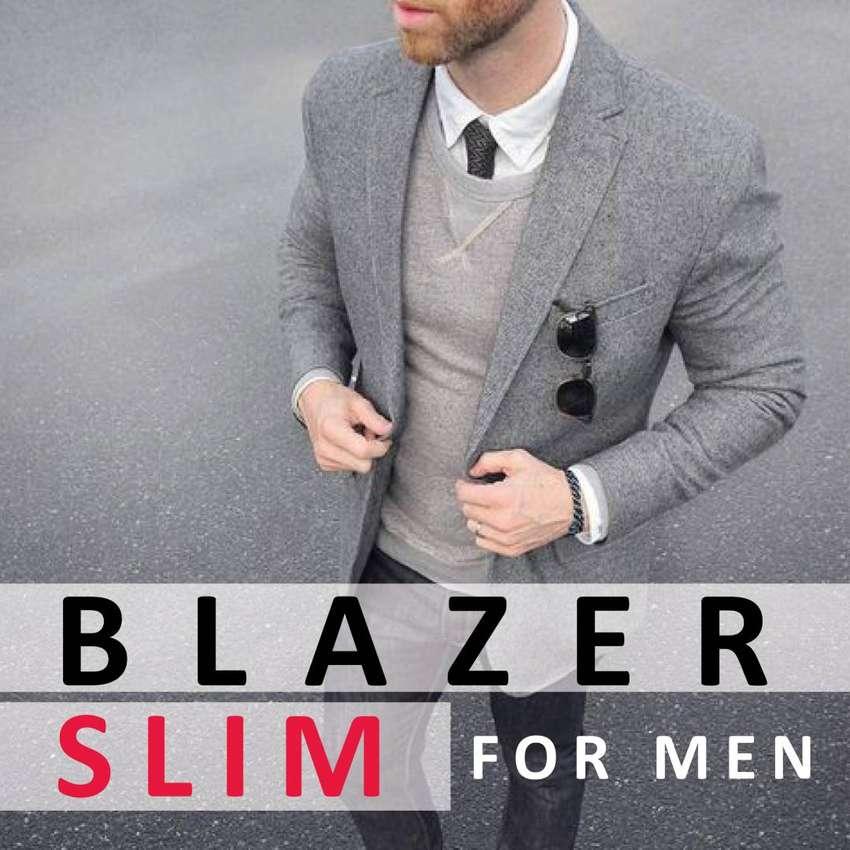 Blazer Hombre Chaqueta Slim Fit Tela Con O Sin Coderas
