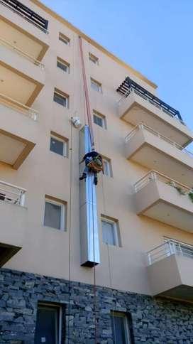 Silletero , trabajos en altura con conductos de ventilación
