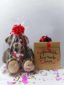 Empaques de regalo osos de peluche Globos burbujas o personalizados