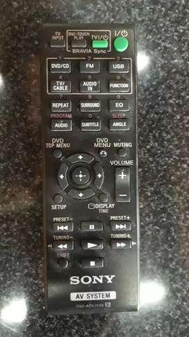Control remoto Sony AV SYSTEM