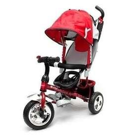 Triciclo Paseador Niños Niñas 3 En 1 Bebes Rines De Lujo