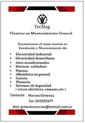Técnico electricista, trabajos industriales y domiciliario. Instalación de aires acondicionados
