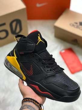 Botas Nike Jordan Retro Negro Amarillo Rojo Envio Gratis