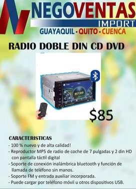 radio doble din mp5 cd y dvd