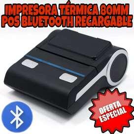 Impresora Bluetooth recargable 80mm portatil térmica pos facturas inalámbrica recibo Android celular