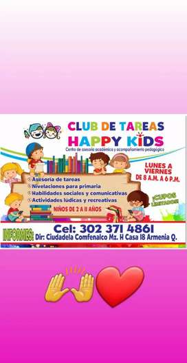 "Club de tareas ""HAPPY KIDS"""