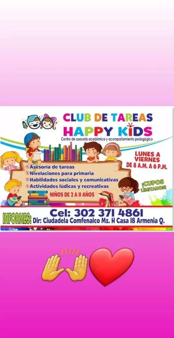"""Club de tareas """"HAPPY KIDS"""" 0"""