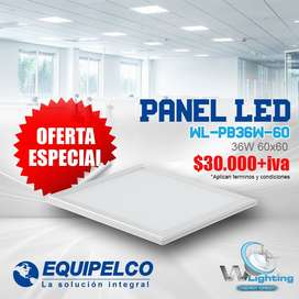 Panel Led 60x60 36W Marco Gris WLighting