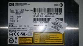 VENDO x 20MIL NO NEGOCIABLES SOLO UNA (1) UNIDAD REGRABADORA DVD INTERNA HP GSA-T20N
