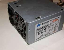 Fuente de poder de 450 W básica para pc básicas o GPU externas