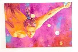 Obra de arte oleo sobre lienzo 1.50mts x 1mts