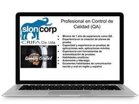 Buscamos Profesional en Control de Calidad (QA)