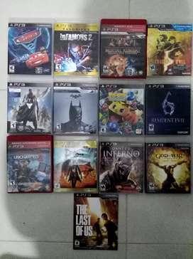 Vendo juegos varios títulos para PS3
