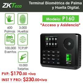 Terminal Biométrica Multi-Modal de Palma y Huella Digital para Gestión de Asistencia y Acceso.