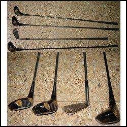 lote de 4 palos de golf vintagge antiguos para exibicion y decoracion