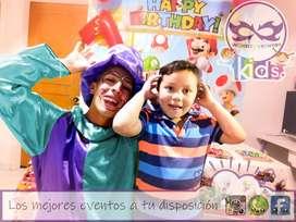 Recreadores para fiestas infantiles animacion de eventos cumpleaños payasos globoflexia spa infantil