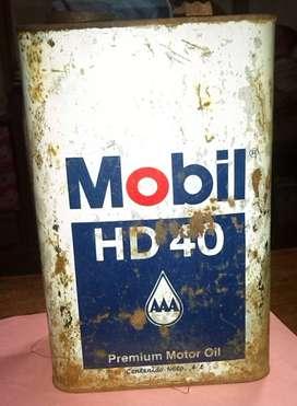 Lata de Aceite Mobil Oil HD 40 de Colección