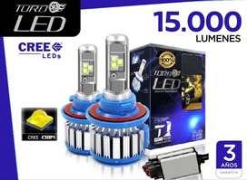 Luces TURBO LED 15.000 Lumens