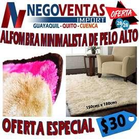 ALFOMBRA MINIMALISTA DE PELO ALTO , ALFOMBRA PARA CASA
