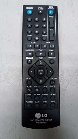 Control remoto DVD grabador LG