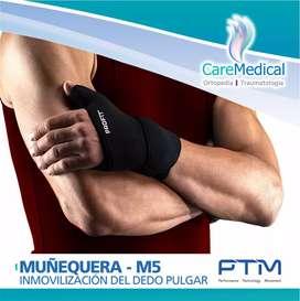 Muñequera Boomerang Con Inmovilización Del Dedo Pulgar PTM