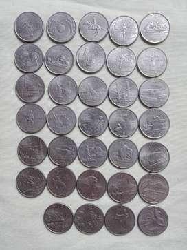 Monedad De 50 Estados de EE-UU. Cuartos de Dólar