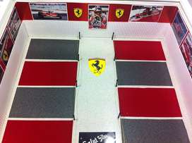 dioramas para carros de carrera a escala