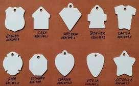 Placas id aluminio blanco para sublimación