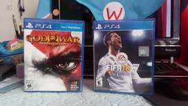 Vendo dos juegos ps4 god war 3 y FiFa18 en perfecto estado