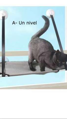 Cama colgante un nivel para gatos