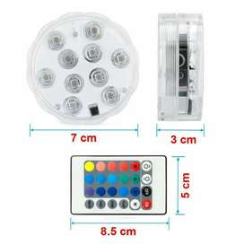 1 Luces Led Sumergible * 1 Control remoto