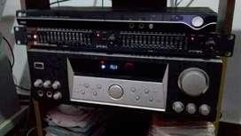 amplificador PRONEX con su ecualizador gemini profesional de 15 bandas x canal