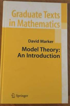 Model Theory: An introduction - David Marker - Ed. Springer