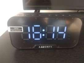 Reloj parlante bluetooth color negro