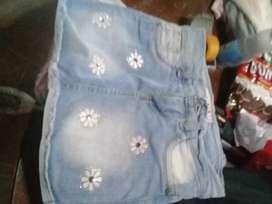pollera de jeans talle 10