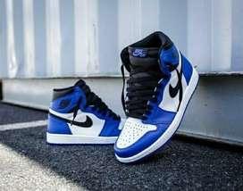 Botas Nike Jordan 1 Azul Blanco Negro Cuero Envio Gratis