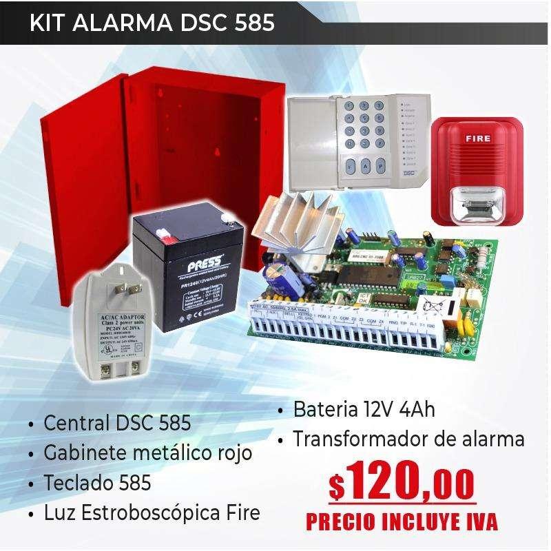 alarma de incendio convencional dsc 585 0