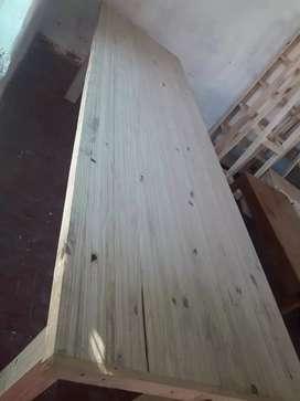 Mesa de pino de 3 metros