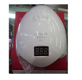 lampara uv - led uñas sun 5 gel secado rapido 48w - blanco