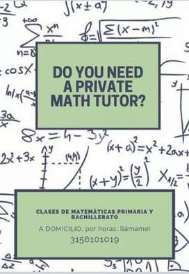 Profesor de matemáticas ONLINE
